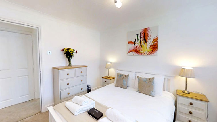 Comfortable bedroom at Coronation Street Apartment