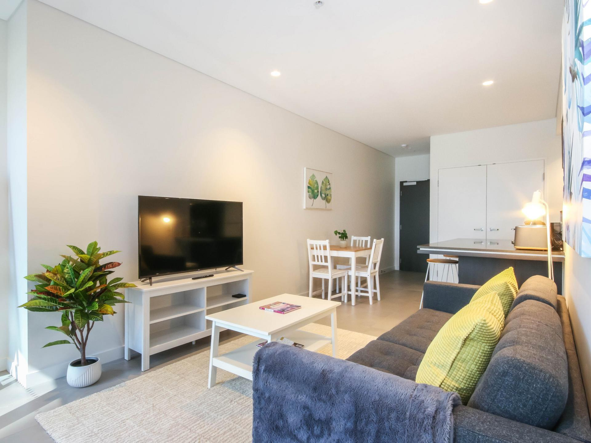 Living area at The Mary Street Apartment, Frog's Hollow, Brisbane