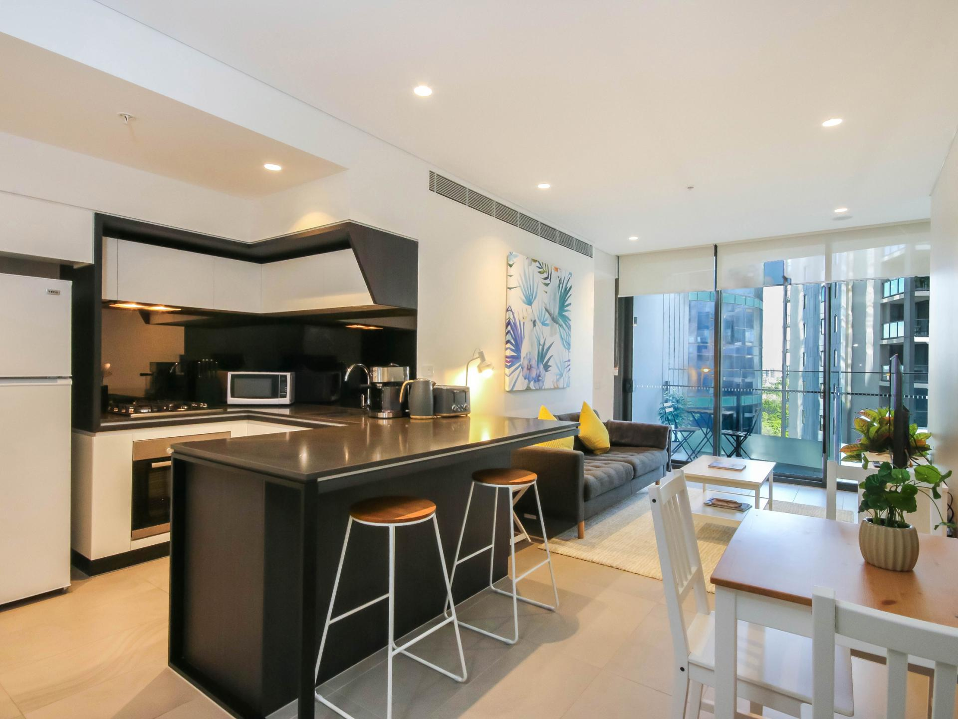 Kitchen at The Mary Street Apartment, Frog's Hollow, Brisbane