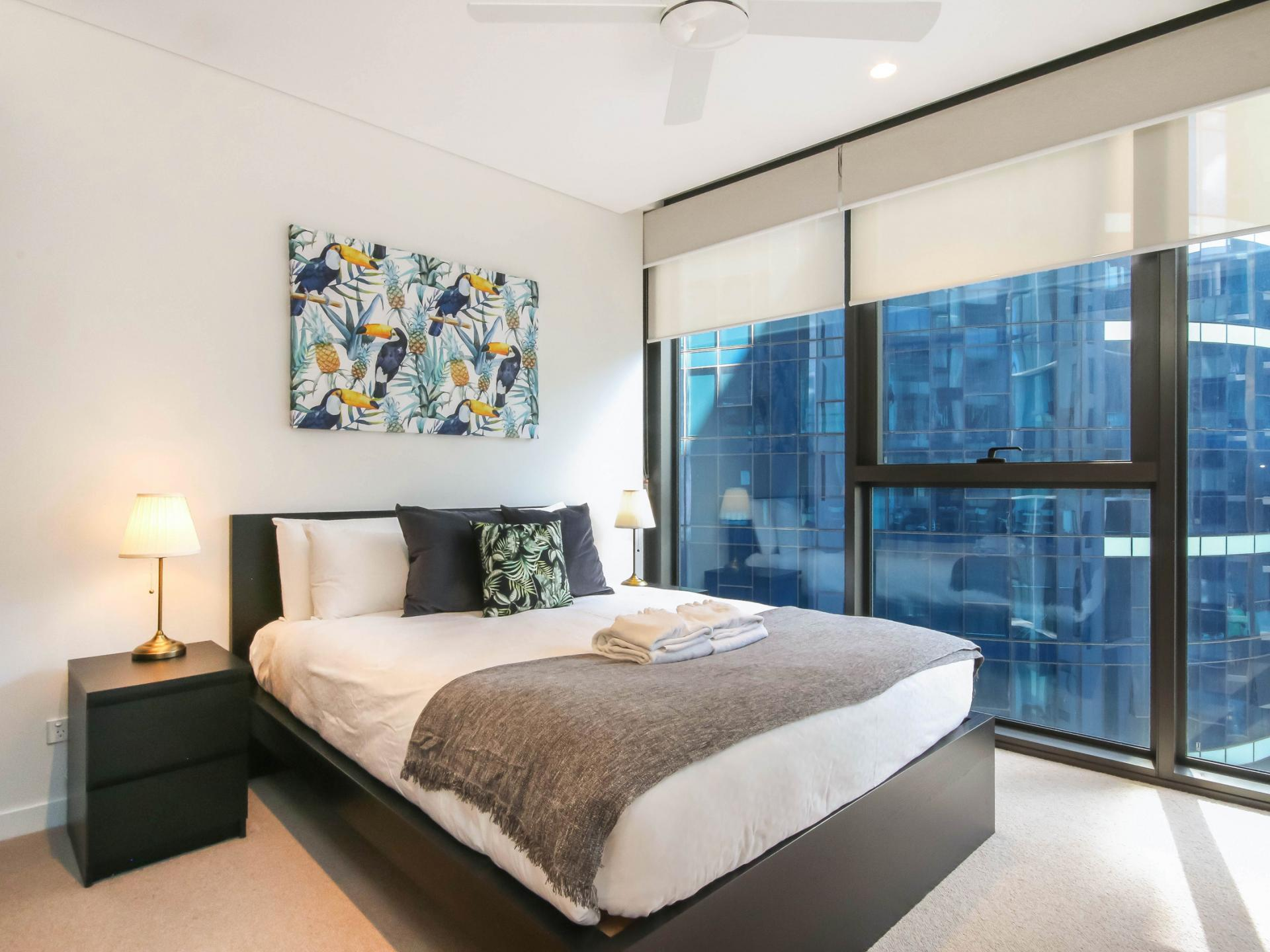 Bedroom at The Mary Street Apartment, Frog's Hollow, Brisbane