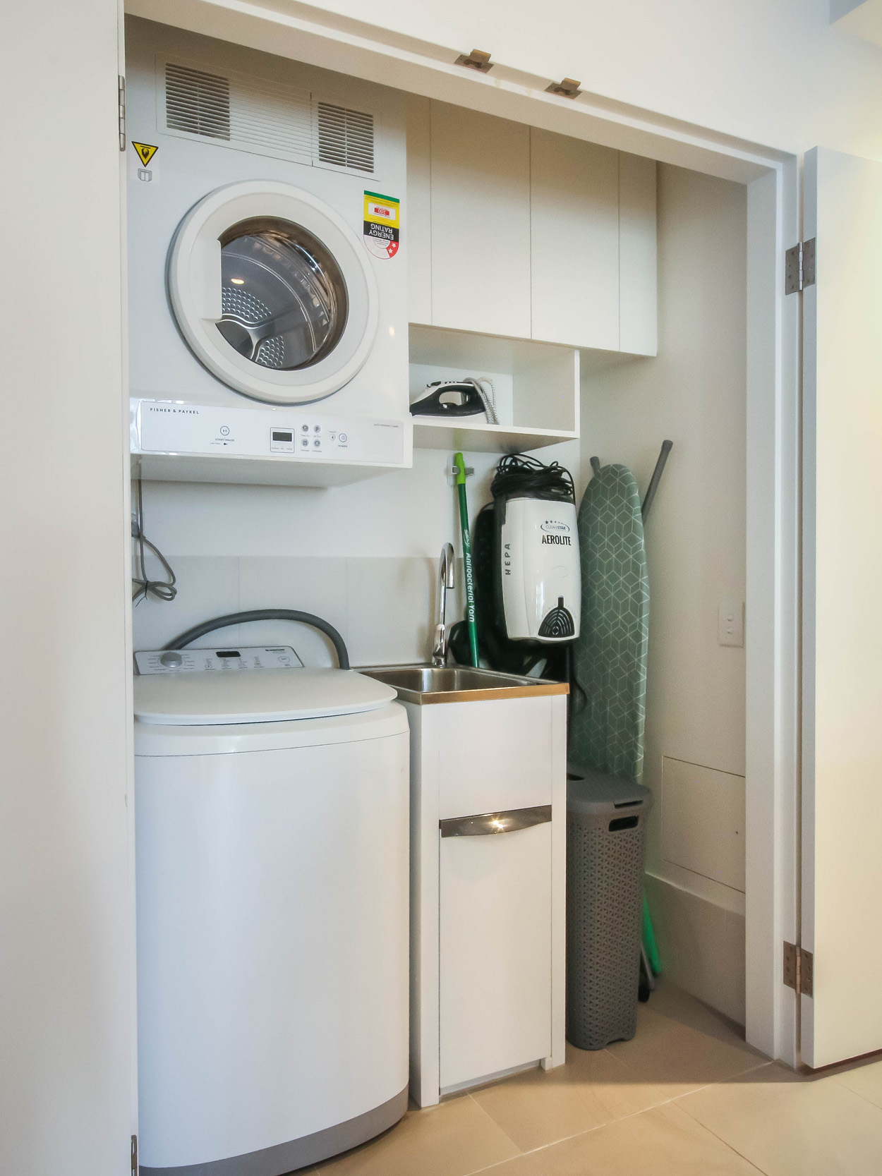 Laundry at The Mary Street Apartment, Frog's Hollow, Brisbane