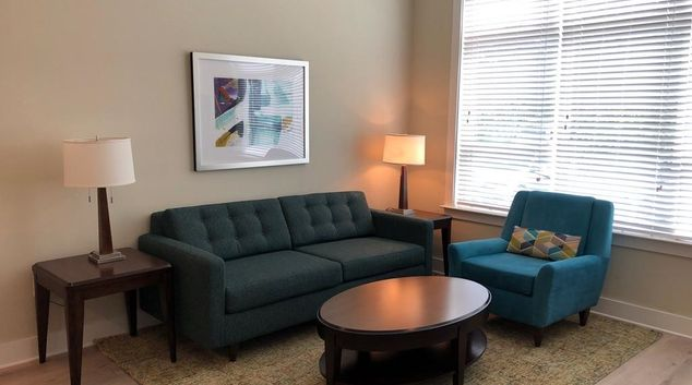 Living area at Solstice Apartments, Parkside, Orlando