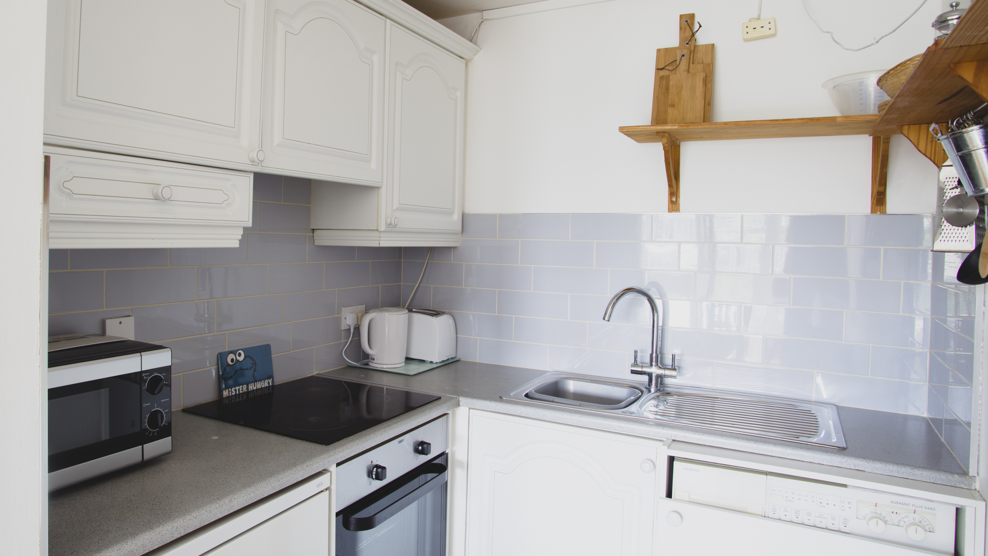 Kitchen at The Waterside Grand Canal Apartment, Grand Canal Dock, Dublin