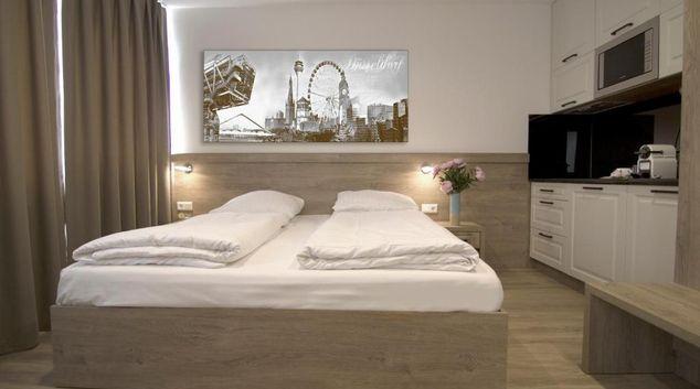 Bed at Sleep Inn Dusseldorf, Altstadt, Dusseldorf