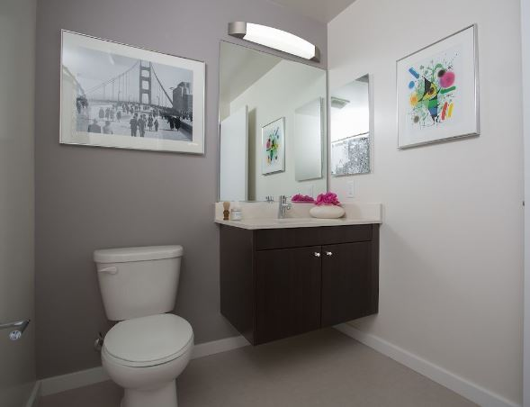 Bathroom at Mosso Folsom Street Apartment, Soma, San Francisco