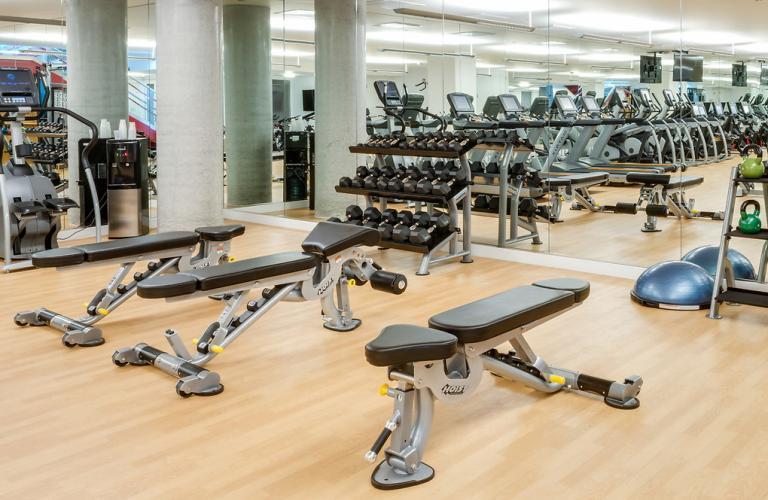Gym at Mosso Folsom Street Apartment, Soma, San Francisco