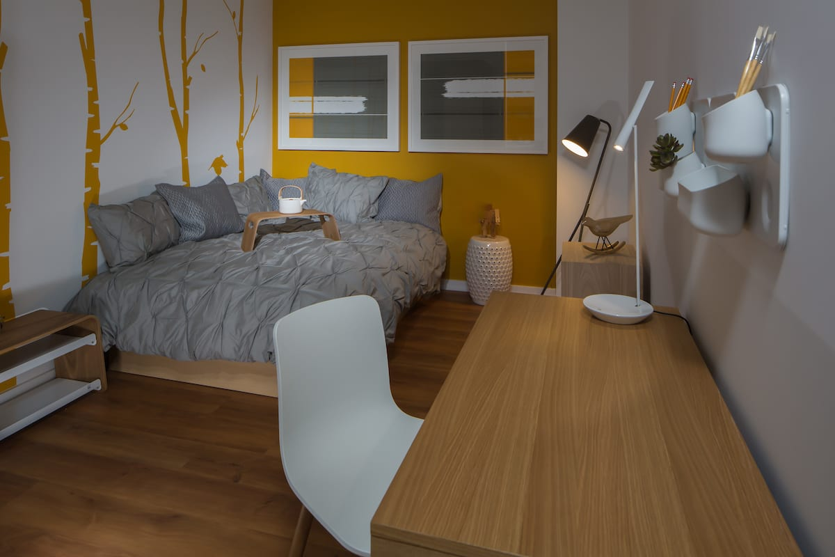 Bedroom at Mosso Folsom Street Apartment, Soma, San Francisco