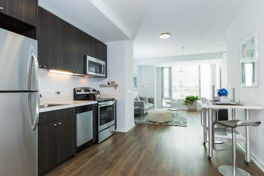 Kitchen at Mosso Folsom Street Apartment, Soma, San Francisco