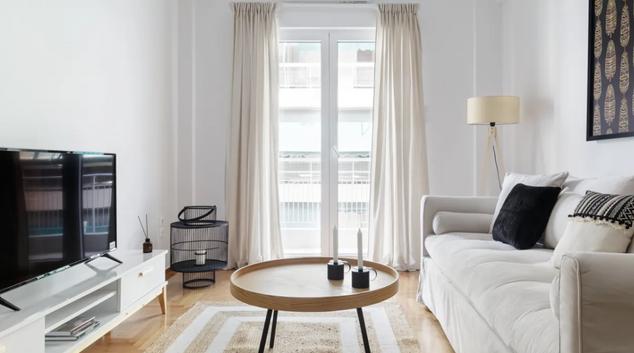 Living room at Dimitrakopoulou Apartment, Koukaki, Athens