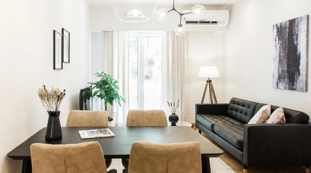 Living room at Aristodimou Apartment, Kolonaki, Athens