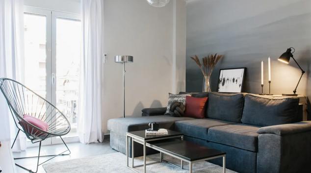 Sofa at Leof Apartment, Ampelokipoi, Athens