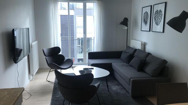 Lounge at Ben Webster Vej Apartments, Sydhavnen, Copenhagen