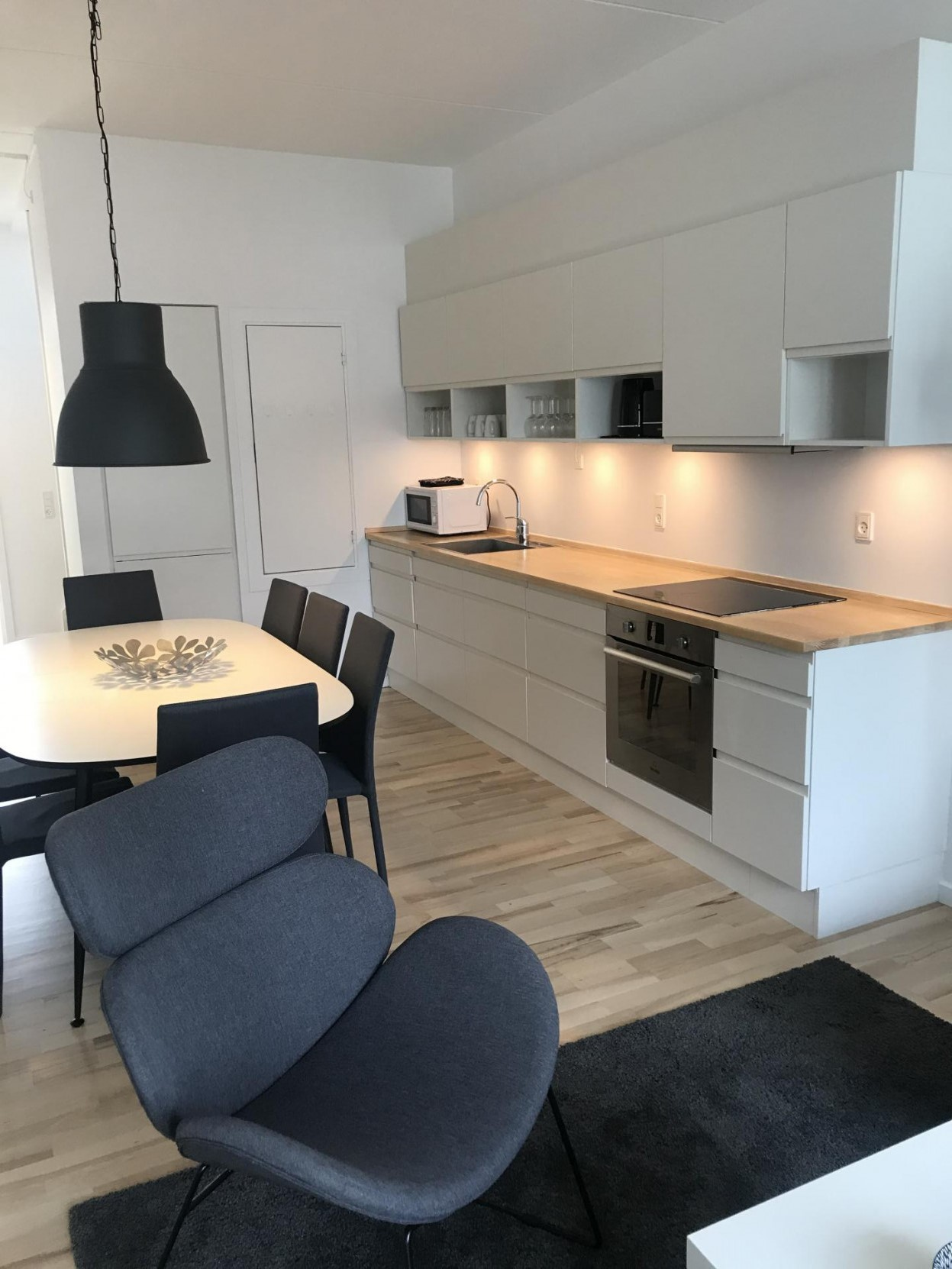 Kitchen at Ben Webster Vej Apartments, Sydhavnen, Copenhagen