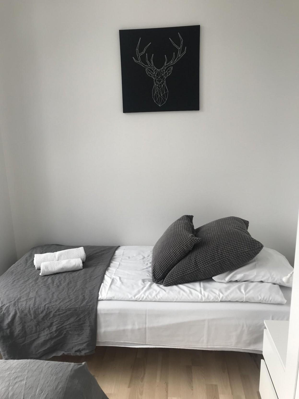 Bed at Ben Webster Vej Apartments, Sydhavnen, Copenhagen