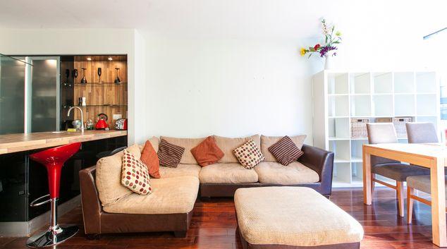 Living area at The Cubes Apartment, Sandyford, Dublin
