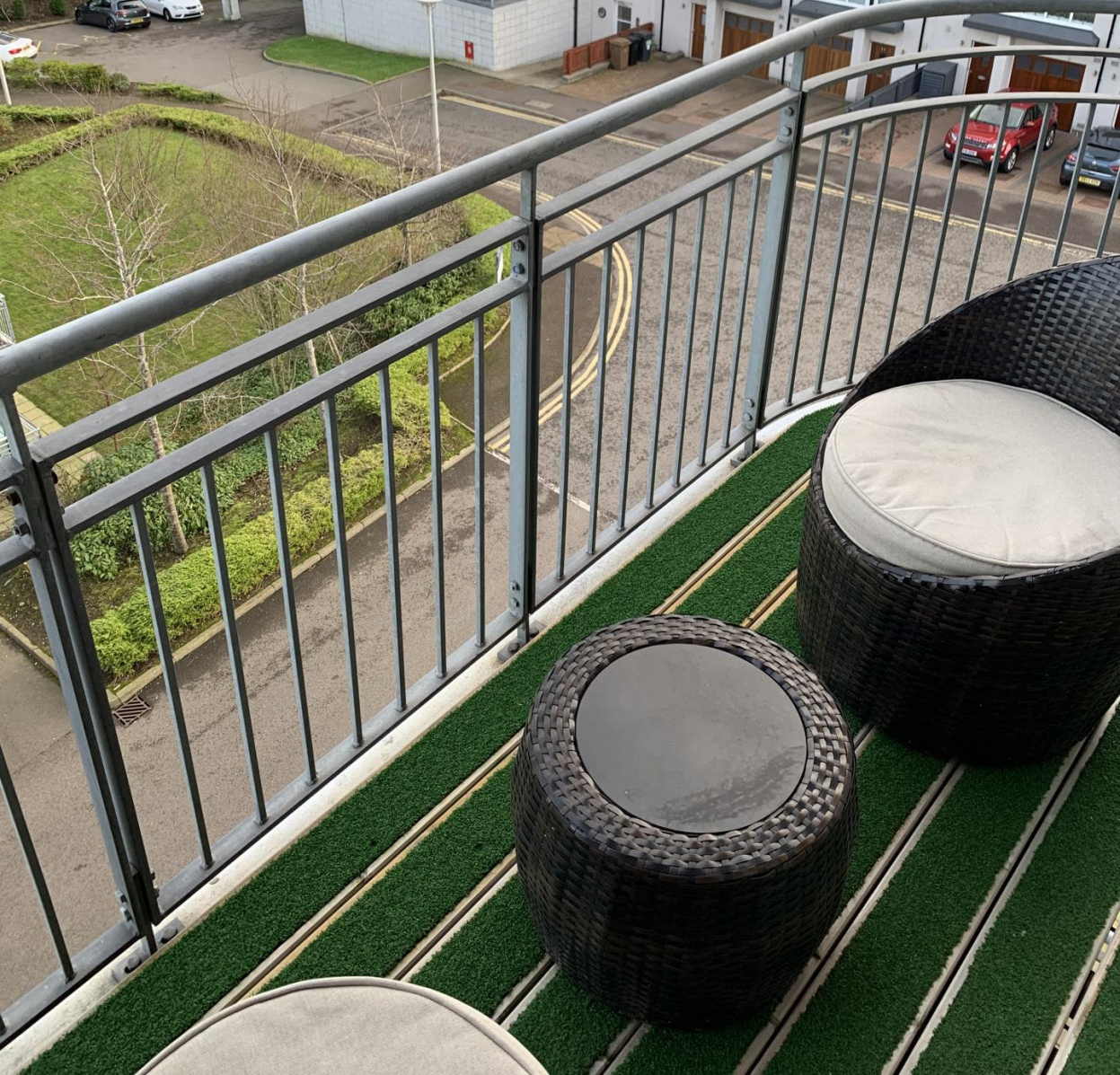 Balcony at Queens Highlands Apartments, Rubislaw, Aberdeen