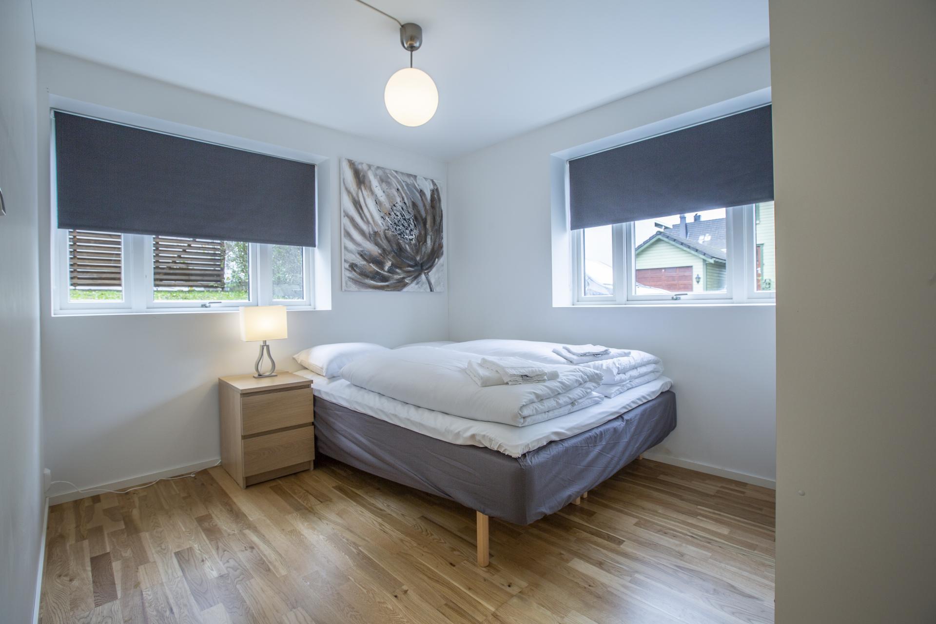 Bed at Saudagata 9 Apartment, Lagard, Stavanger