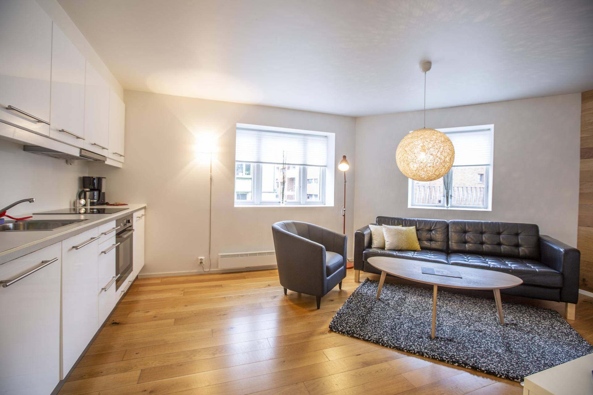 Living room at Saudagata 9 Apartment, Lagard, Stavanger