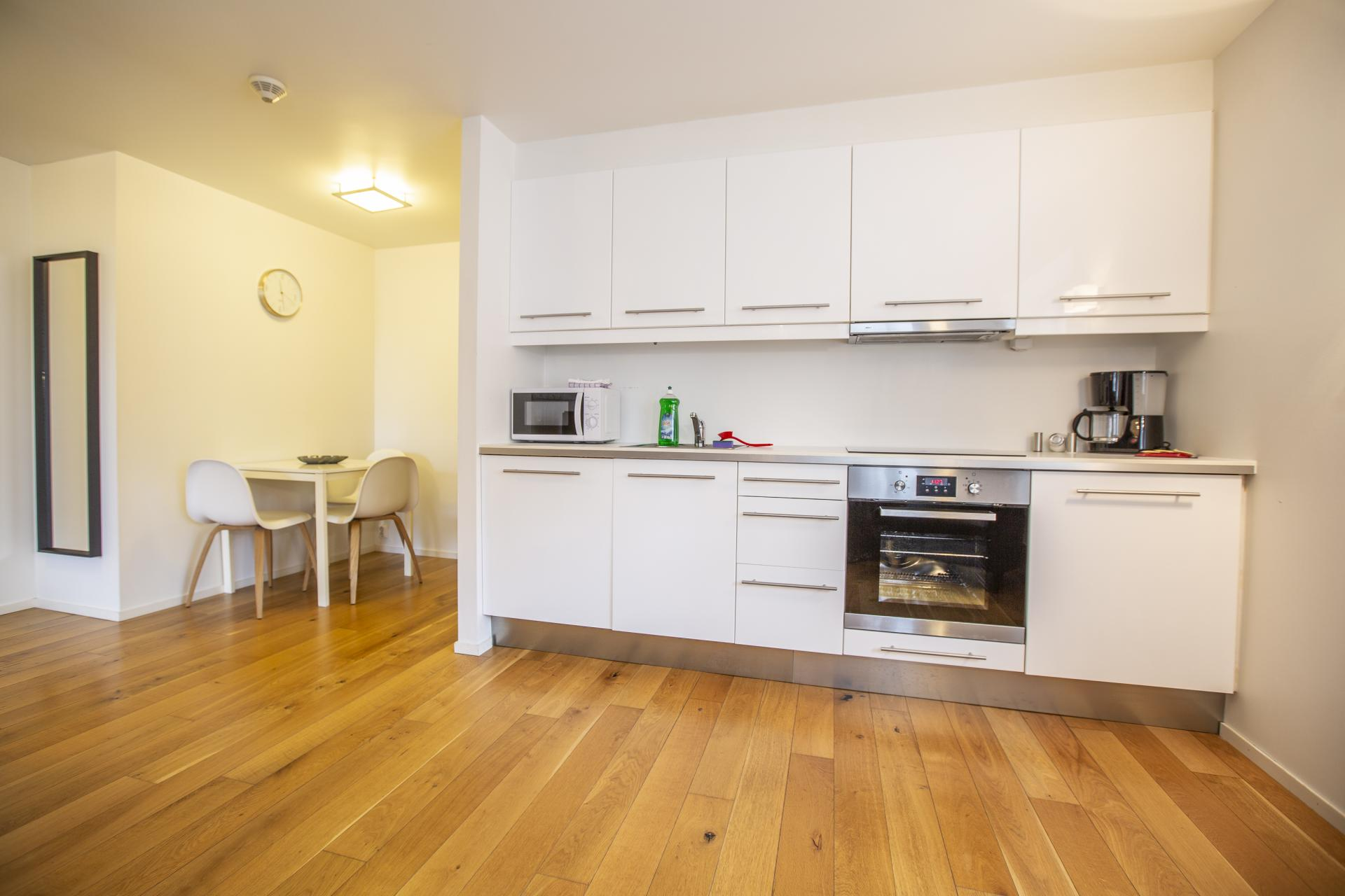 Kitchen at Saudagata 9 Apartment, Lagard, Stavanger