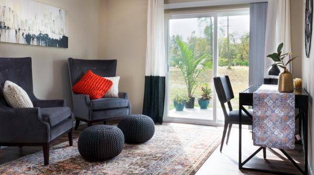 Living room at Redwood Midland Apartment, Centre, Midland