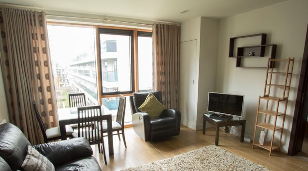 Living area at The Edges Dublin Apartment, Sandyford, Dublin