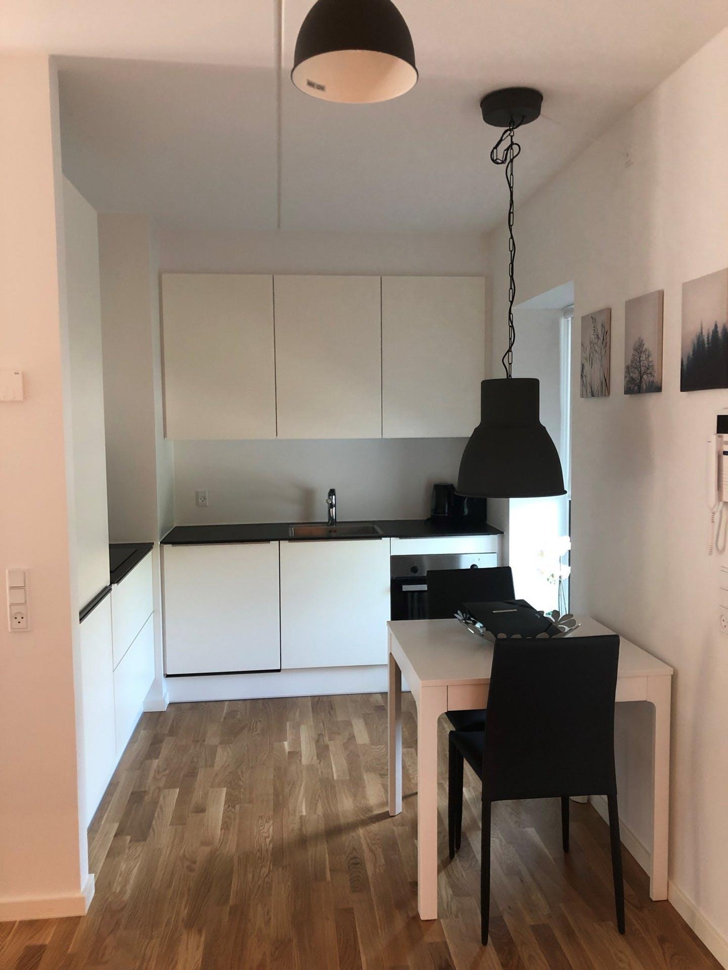 Kitchen at Møllehatten 11 Apartment, Risskov, Aarhus