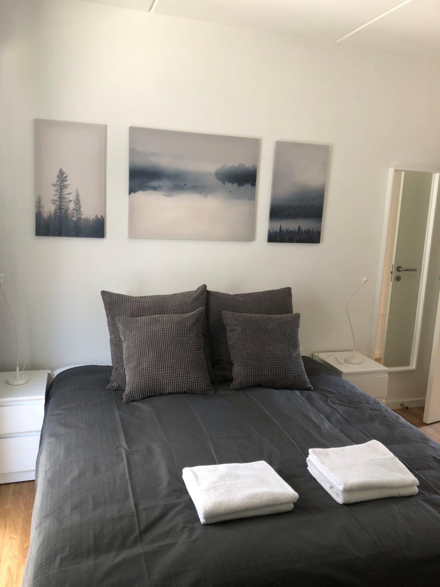 Bedroom at Møllehatten 11 Apartment, Risskov, Aarhus