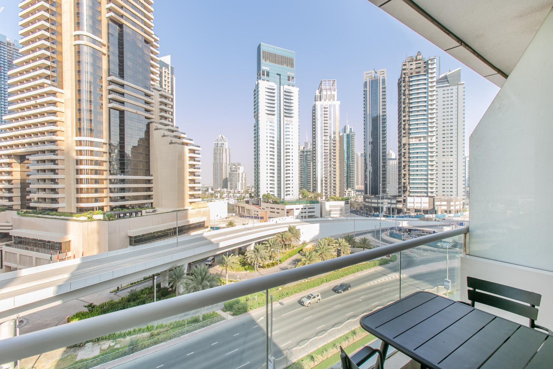 View from Botanica Studio, Dubai Marina, Dubai