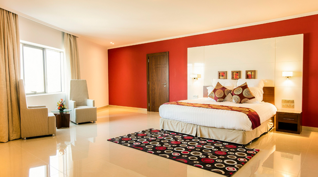 Bed at Coral Muscat Hotel & Apartments, Qurm, Muscat
