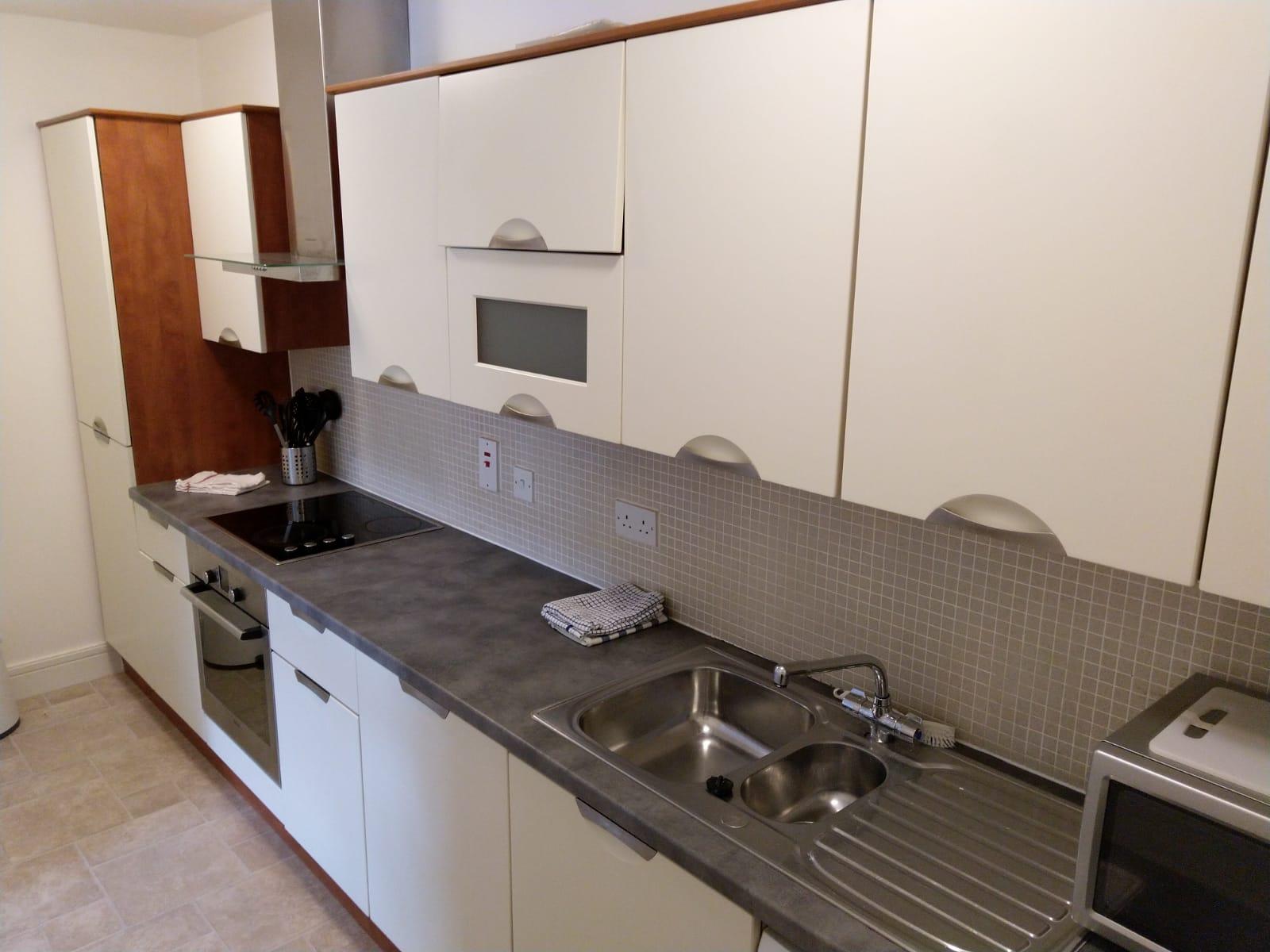Modern kitchen at Ridge Hall Apartment, Ballybrack, Dublin