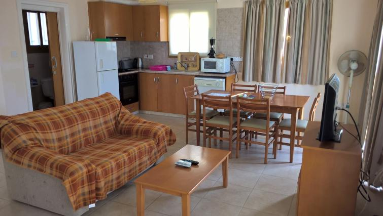 Comfortable living area in Kapsalia Holiday Villas