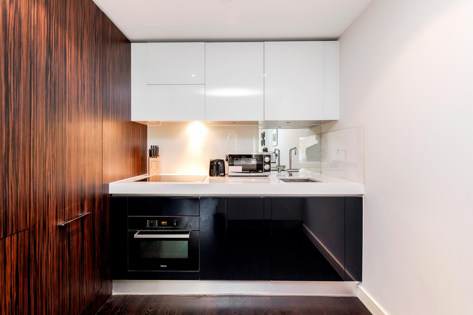 Kitchen at Chelsea Serviced Apartments, Chelsea, London