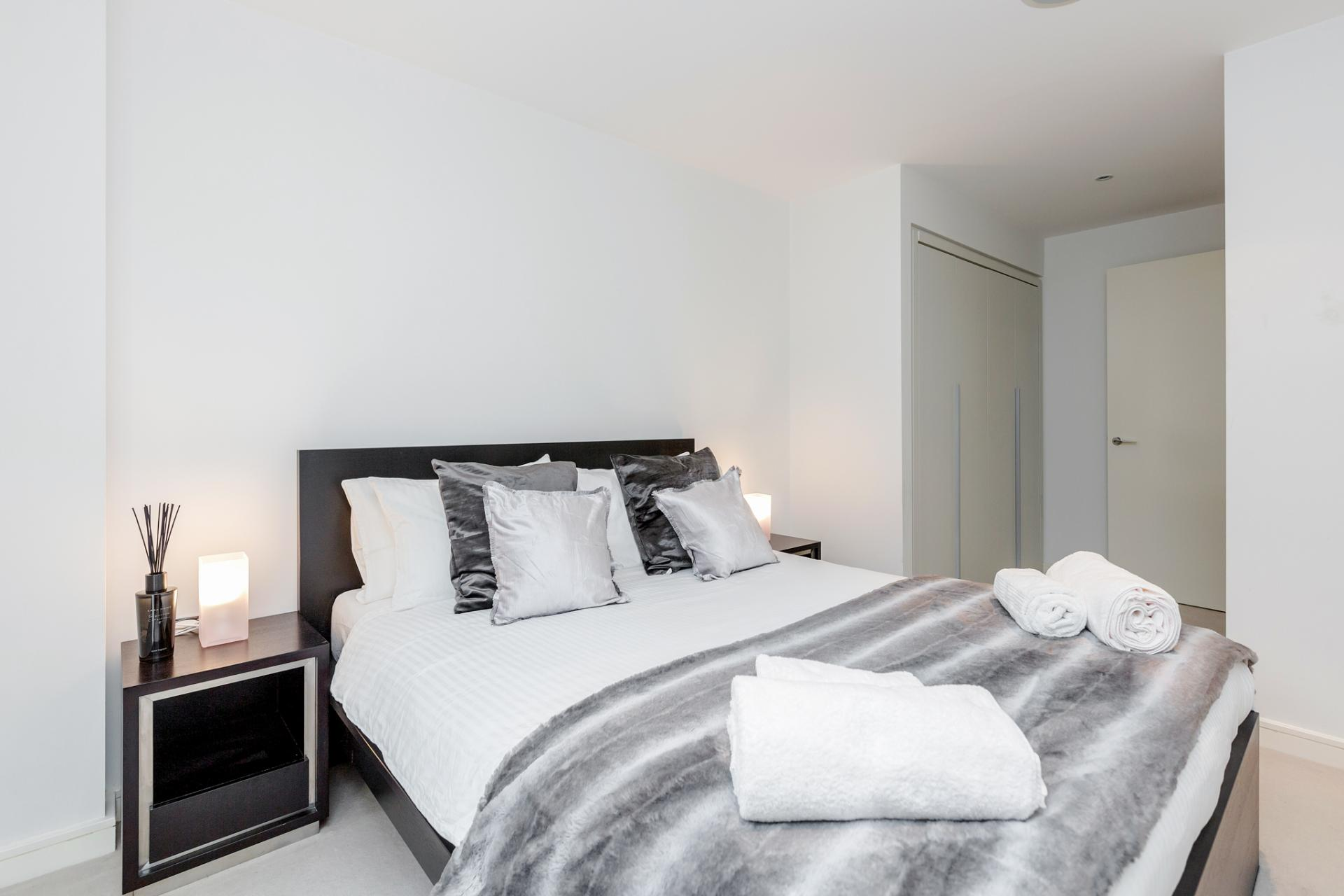 Bedroom at Chelsea Serviced Apartments, Chelsea, London