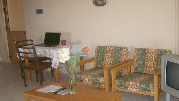 Tidy living area in Rantzo Holiday Apartments