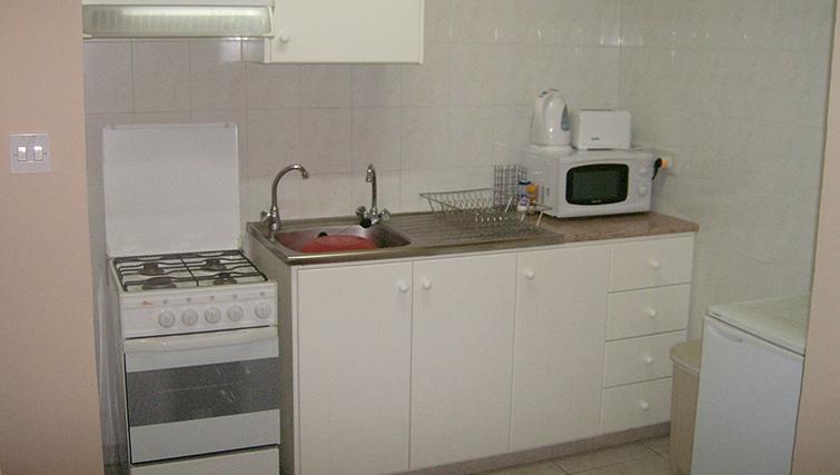 Kitchen at Rantzo Holiday Apartments