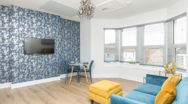 Lounge at Coldharbour Road Apartments, Bishopston, Bristol