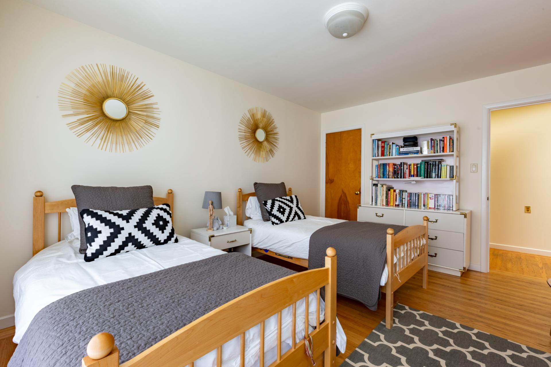 Beds at Leavenworth Street Apartment, Russian Hill, San Francisco