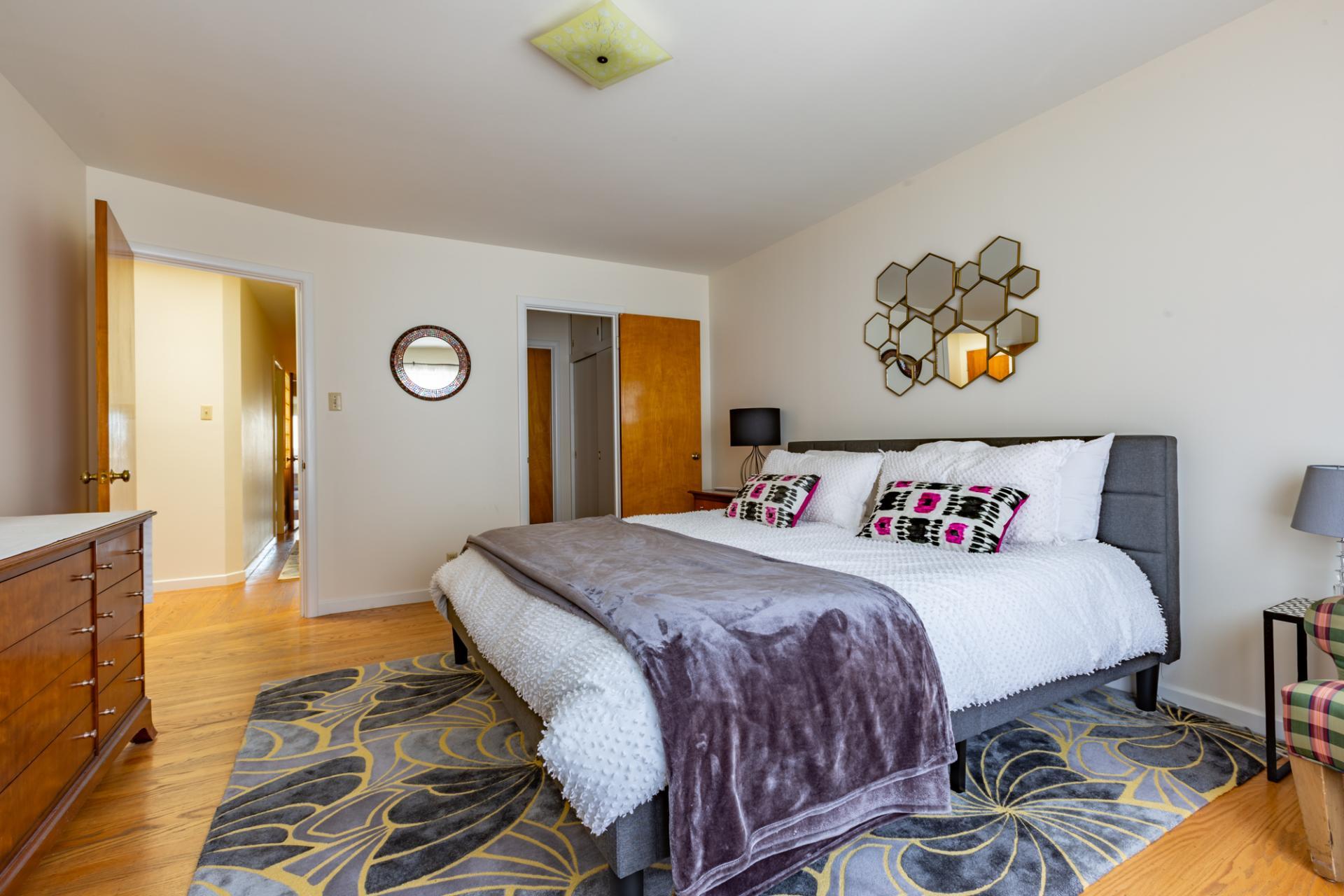 Bedroom at Leavenworth Street Apartment, Russian Hill, San Francisco