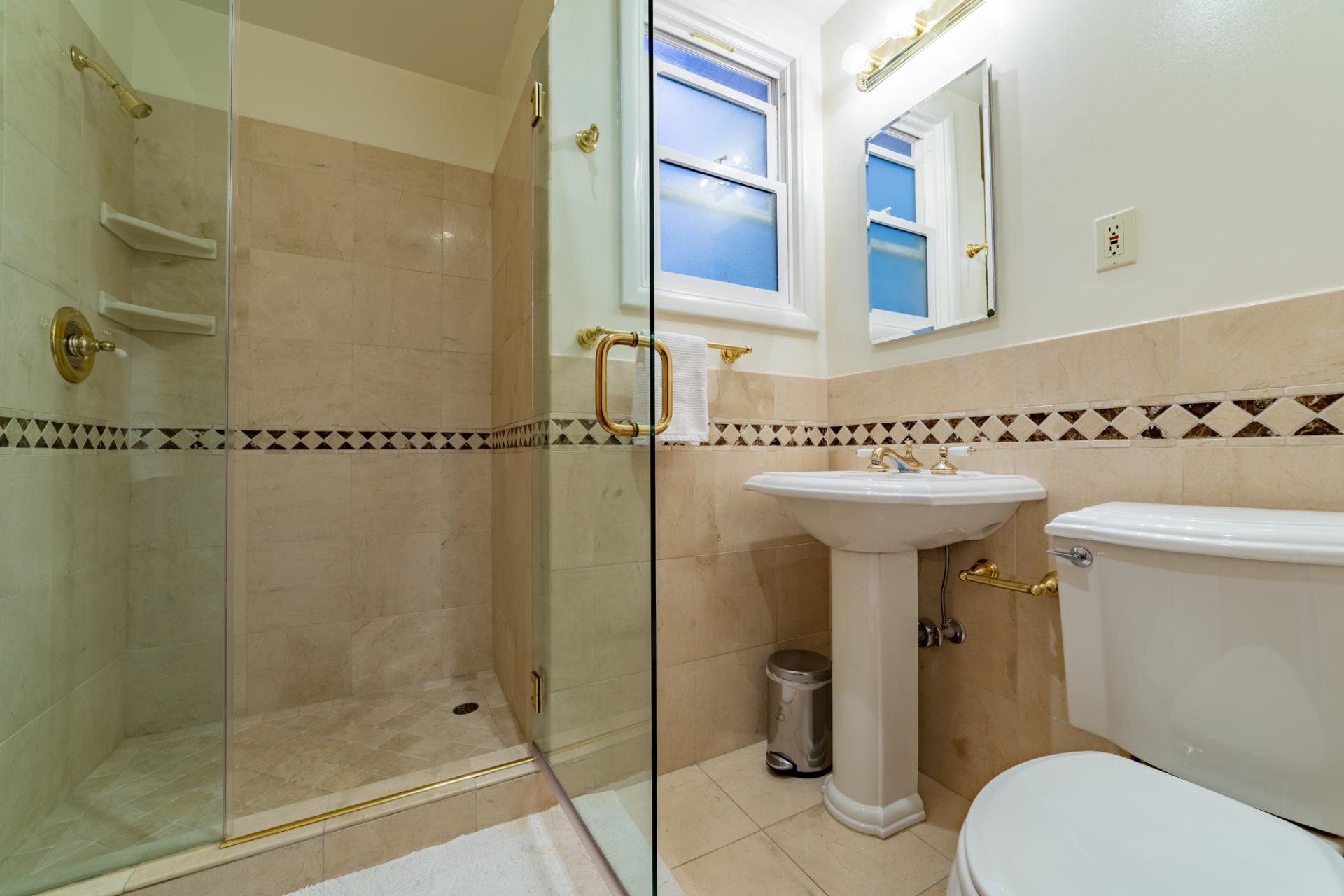Bathroom at Leavenworth Street Apartment, Russian Hill, San Francisco