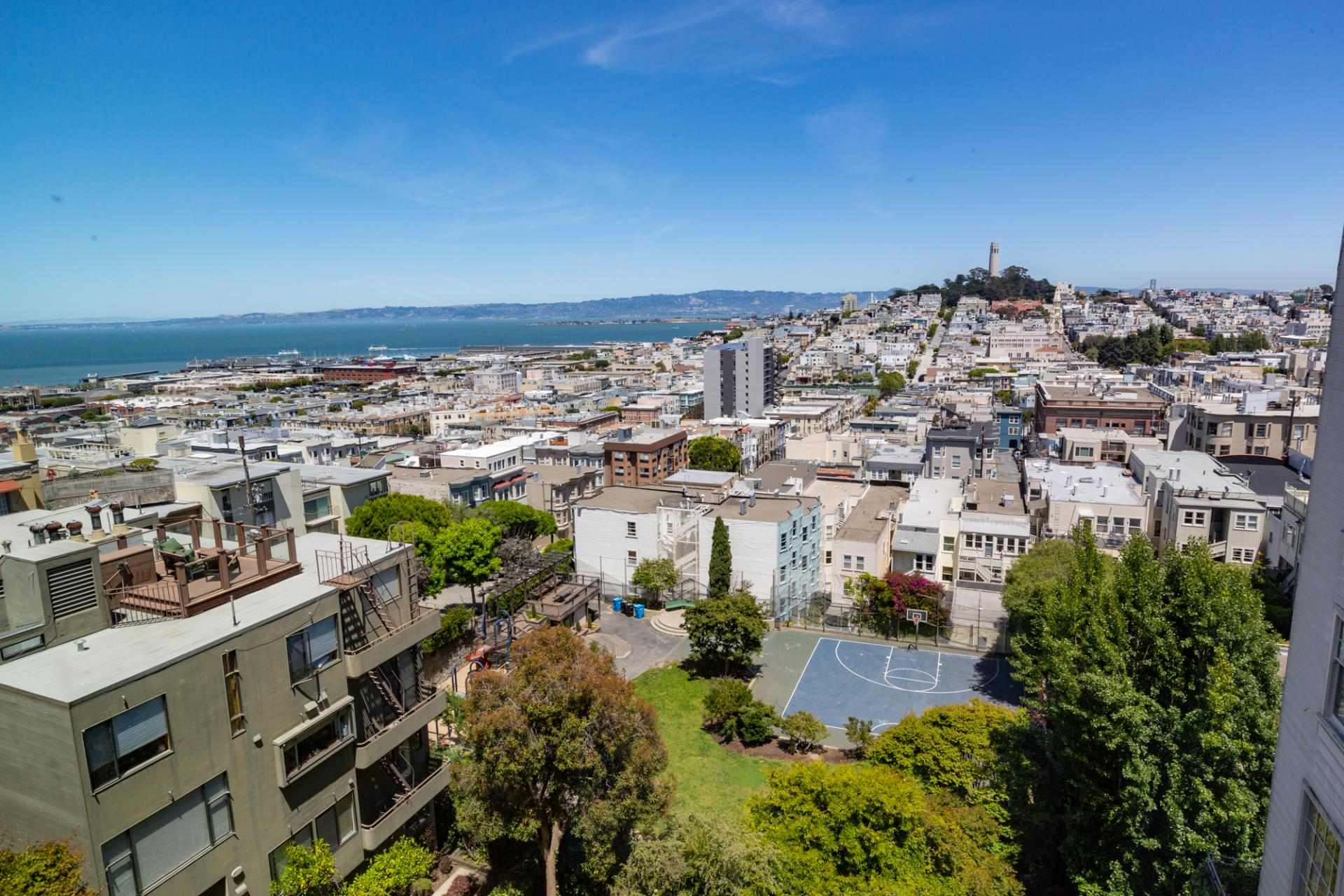 View from Leavenworth Street Apartment, Russian Hill, San Francisco