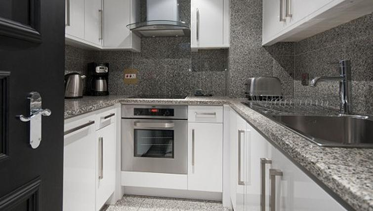 Kitchen in a 1 bed at Mayfair House Apartments