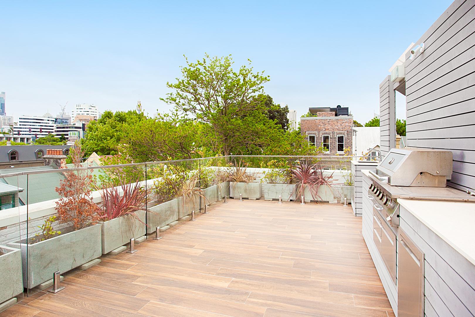 Terrace at The Seymour Apartments, Paddington, Sydney