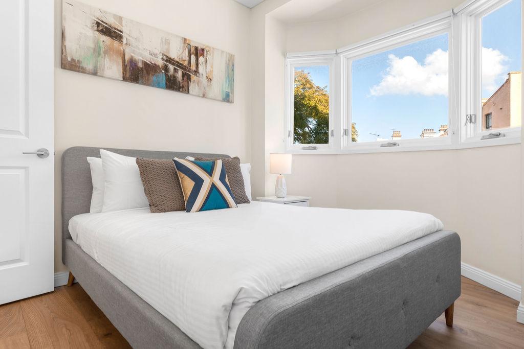 Bed at The Seymour Apartments, Paddington, Sydney