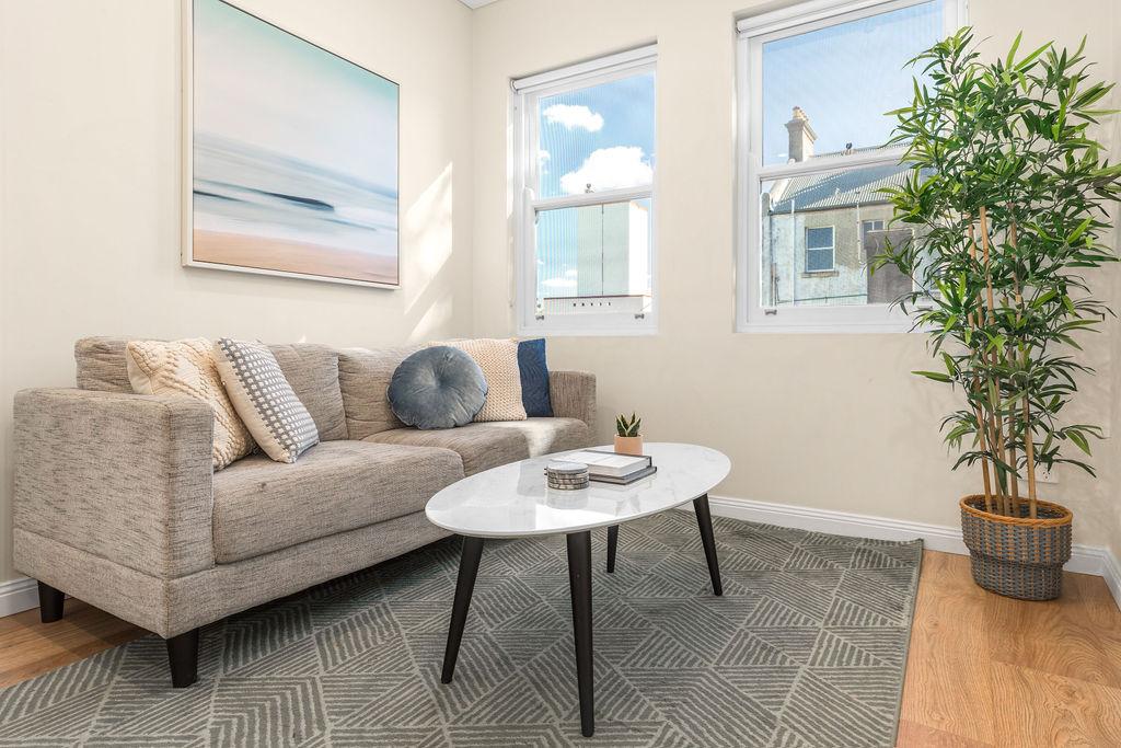 Sofa at The Seymour Apartments, Paddington, Sydney