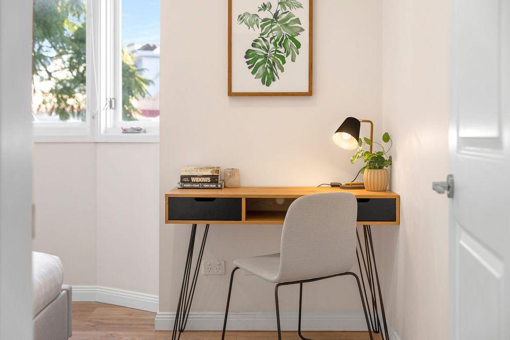 Work desk at The Seymour Apartments, Paddington, Sydney