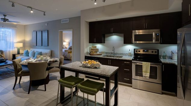 Open Plan Kitchen & Living Room at Berkshire Lauderdale by the Sea, Bay Colony