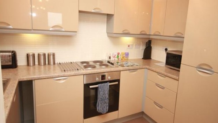 Kitchen in The Triangle Apartments