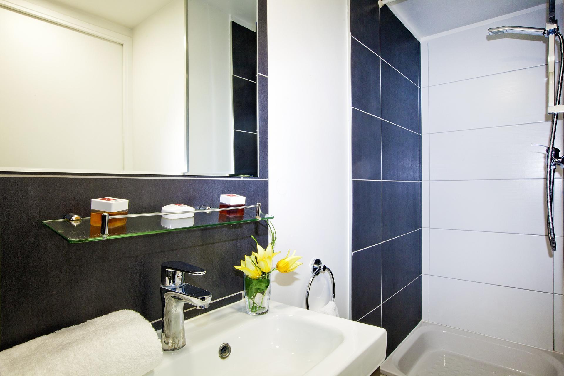 Bathroom at Séjours & Affaires Pantin Apartments, Pantin, Paris