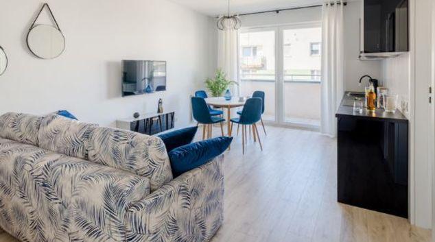 Living area at Nowa Lęborska Apartments, Przymorze, Gdansk