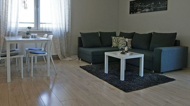 Sofa at Albatros Apartment, Zaspa, Gdansk